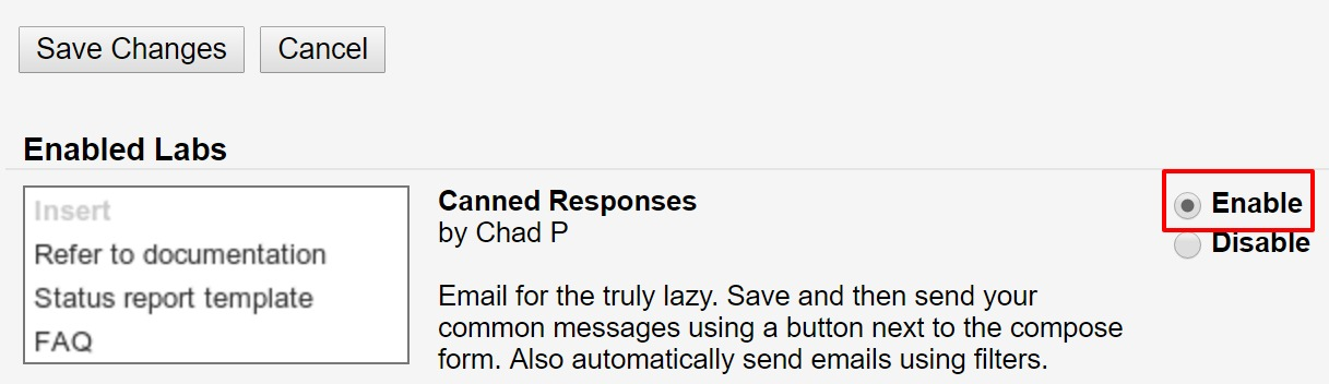 How to Enable Canned Response in Gmail