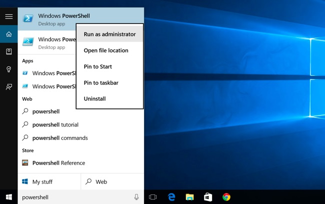 Open PowerShell prompt  as an Administrator
