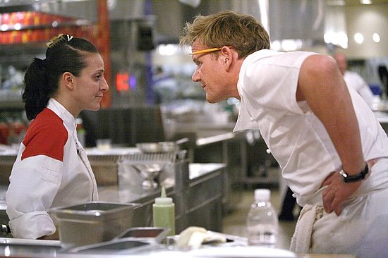 Girl remaining calm before Chef Ramsay